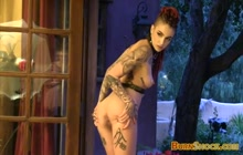 Behind the Scene Video Clip With Tattooed Pornstars