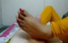 Maid Giving A Footjob