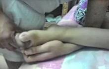 Cum on my wife feet