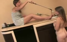 Woman getting spanked and dominated