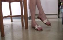 Beautiful feet in sandals