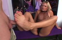 Flawless blonde in lingerie fucked hard