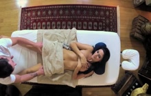 Raven babe gets some special massage