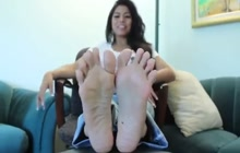 Asian cutie teasing all the foot lovers