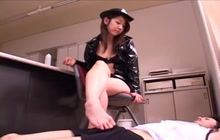 Asian Girls Doing Footjobs