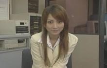 Asian footjob in office
