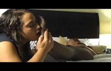 Lesbian babe licking feet